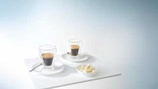 Modern style coffee photography