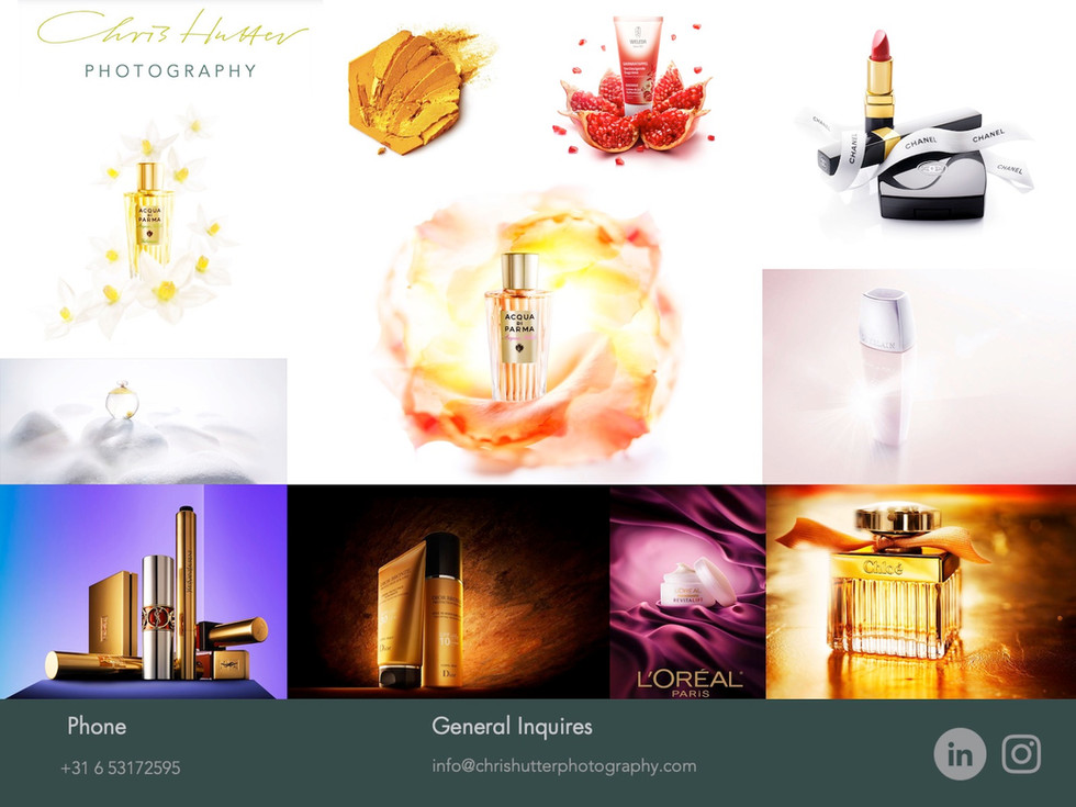 Chris Hutter Cosmetics Photography