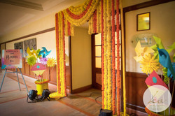 Marigold entrance with some origami!
