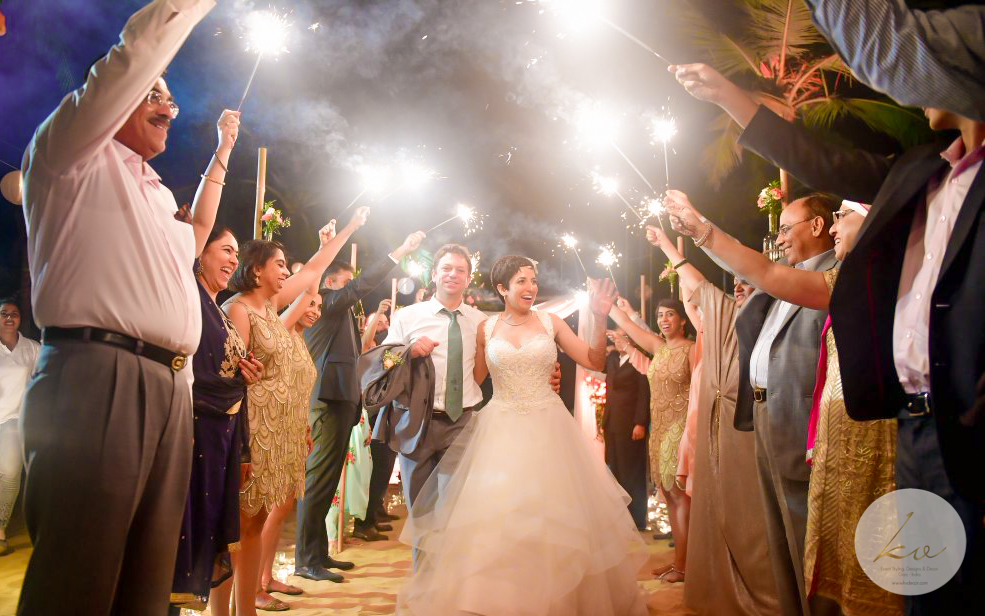 the happy bridal exit!