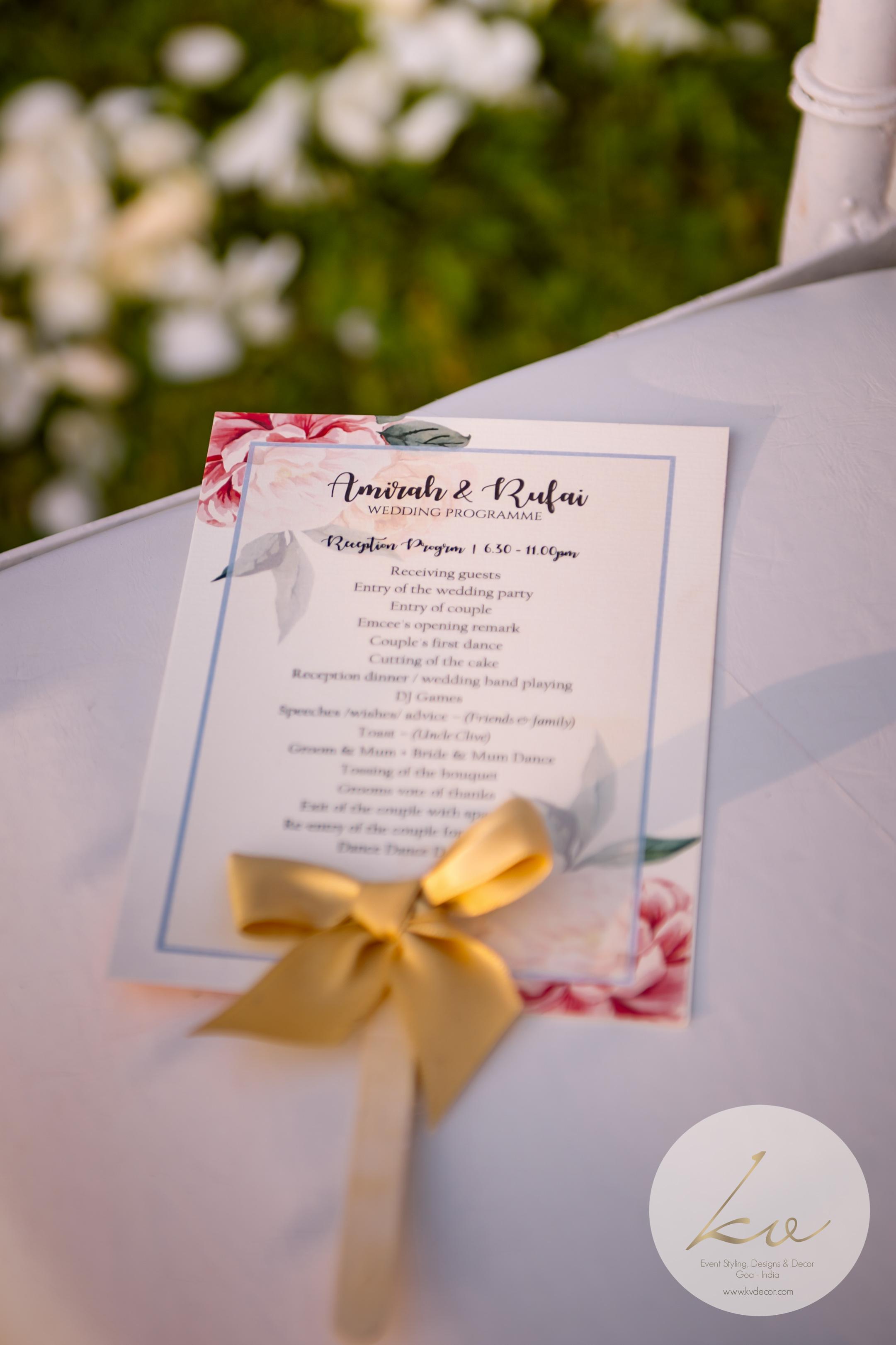 ... the wedding program!