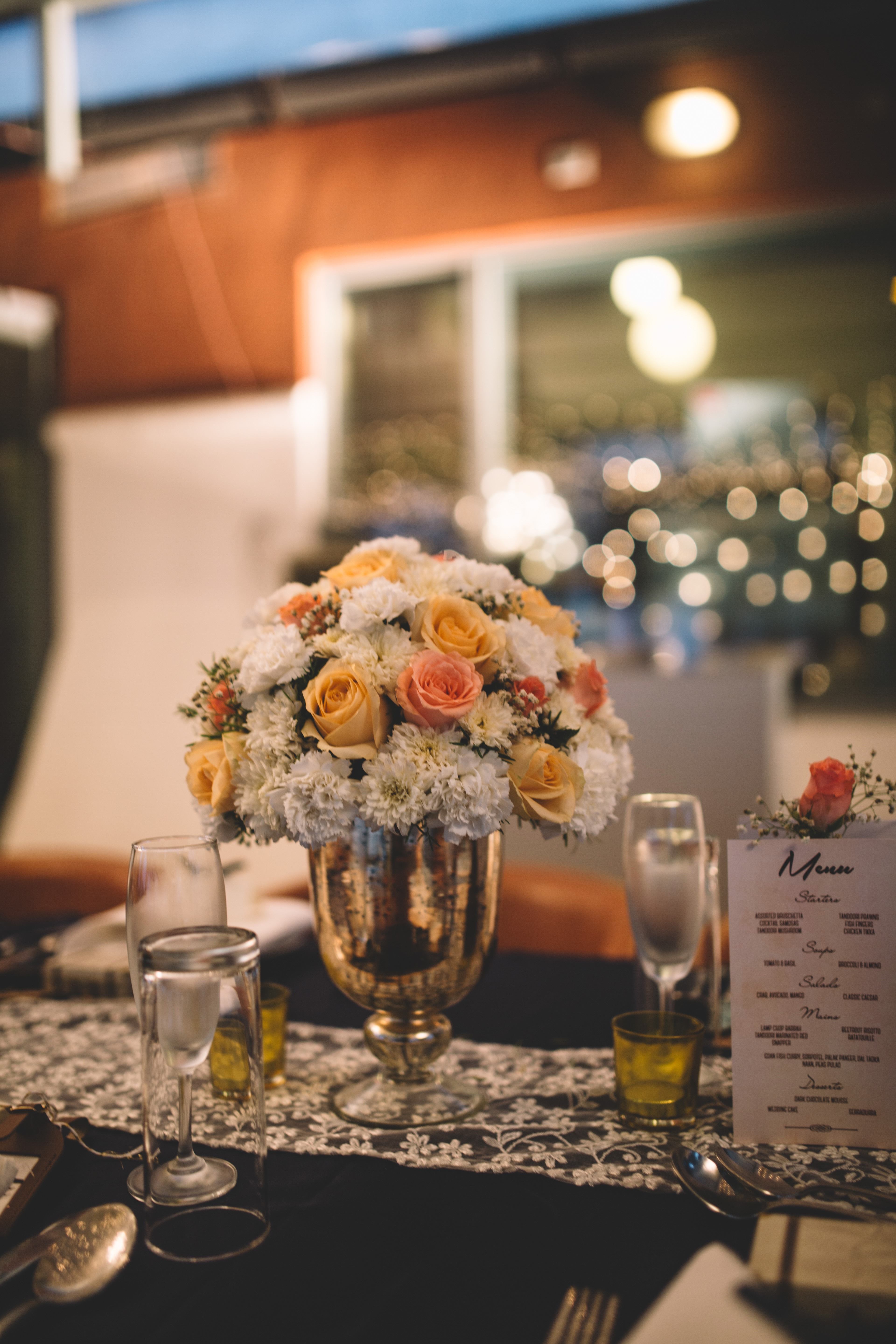 Floral table centres!