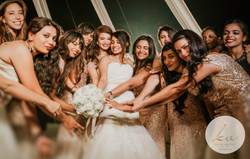 The bride, the bouquet & the smiles!