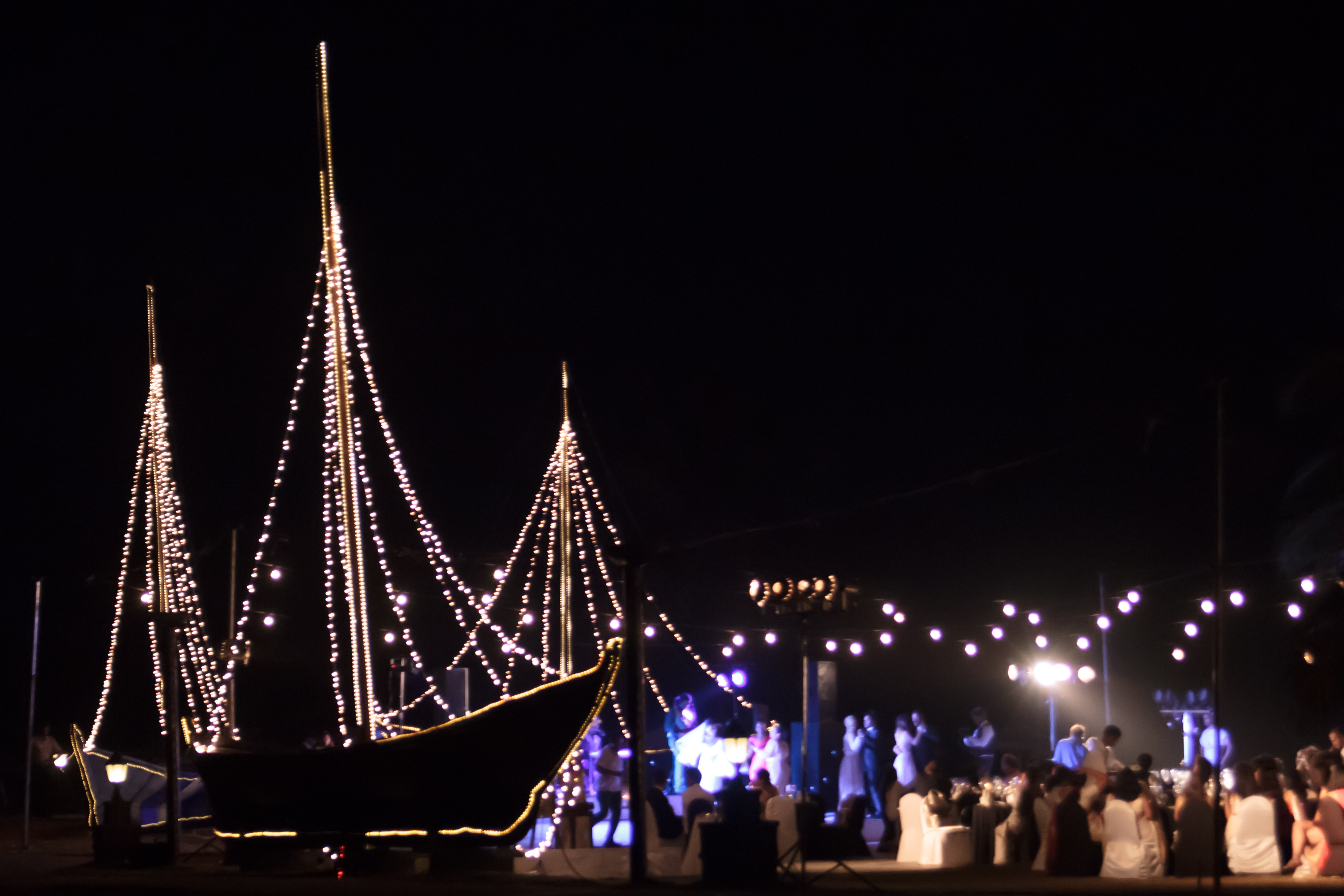 Sailing through the fairy lights