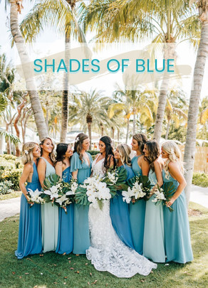 Bridesmaid Dresses: Shades of Blue