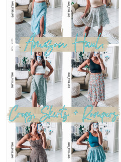 Amazon Haul: Crops Tops, Skirts, + Rompers