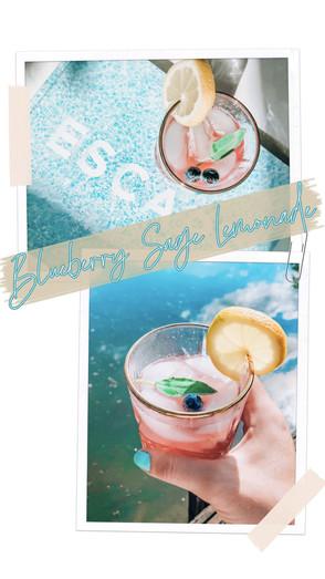 Blueberry Sage Lemonade