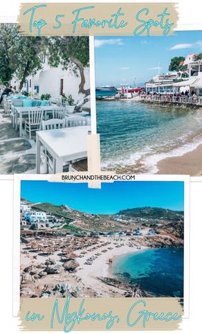 Top 5 Favorite Spots in Mykonos, Greece