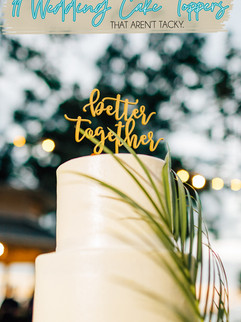 11 Wedding Cake Toppers That Aren't Tacky