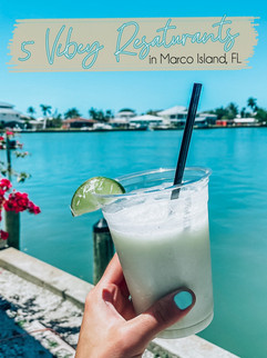 5 Vibey Restaurants in Marco Island, Florida