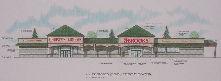 Elevations completed for Strip Mall