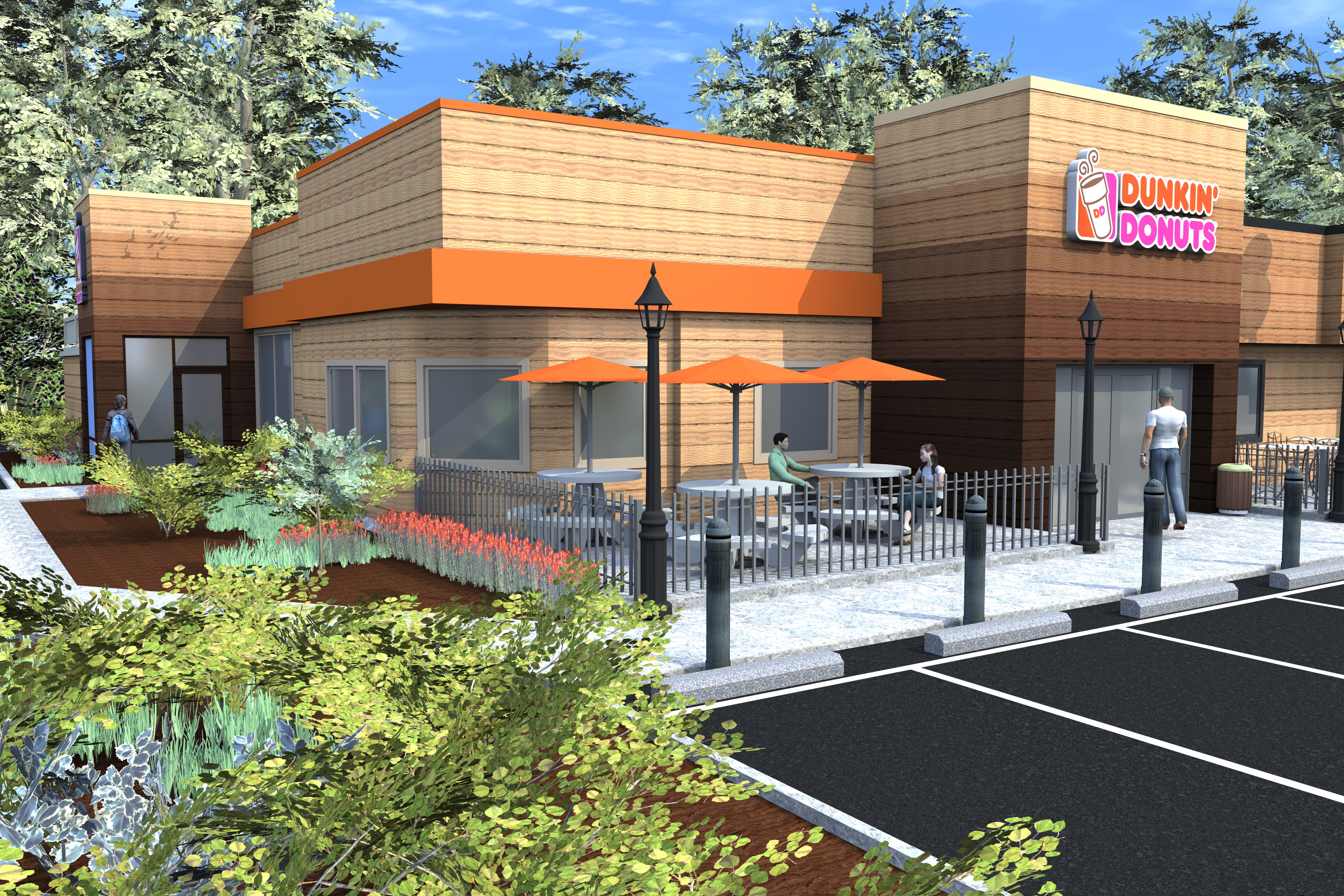 Dunkin Donuts Rendering