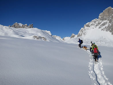 Snow shoe tours in beautiful St. Antoenien and around Klosters and Davos with Dominik Karrer and his team