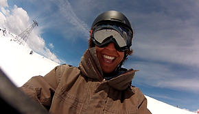 Khalil, Ski teacher for Ben&Joe's Ski and Snowboard School is a charming young lad and also great with kids! Some freestyle? Sure! Book Khalil for a private ski lesson!