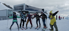 End of season fun for the international team of Ben&Joe's Instructors who love their new home in the Davos-Klosters Mountains.