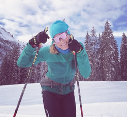 Hilde, cross country skiing, skating or classic in Klosters