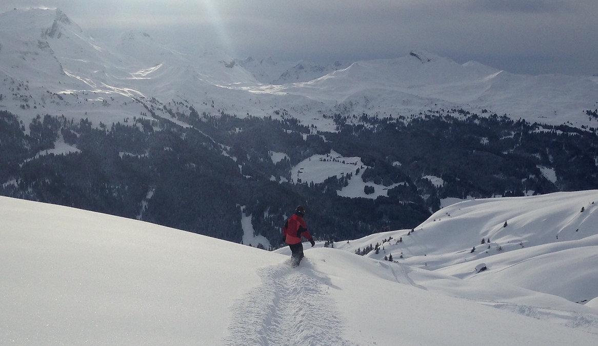 Lerne im Moment zu sein und eins zu werden mit deinen Skis, deinem Snowboard und dem Berg.