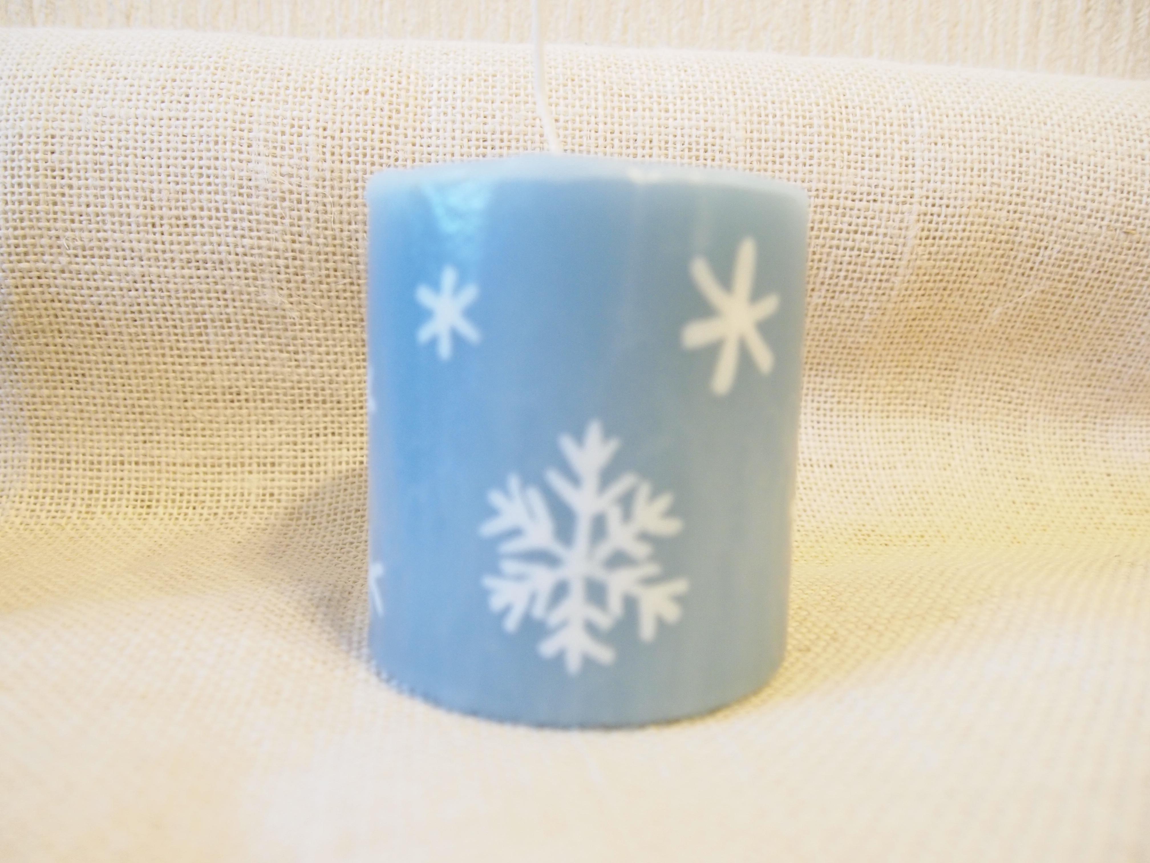 北欧風candle 雪の結晶