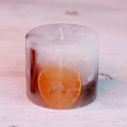 Natural candle orange