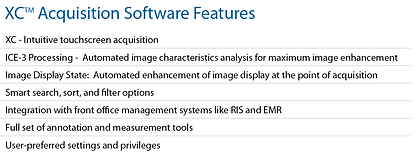 XC Acquisition Software Features