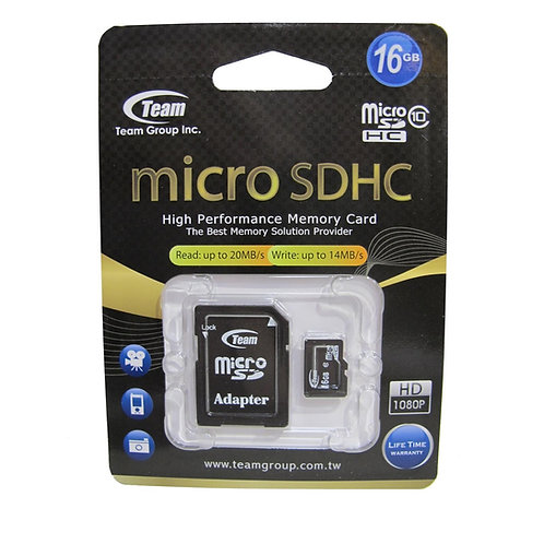 Team 16GB Micro SDHC Class 10 Flash Card with Adapter