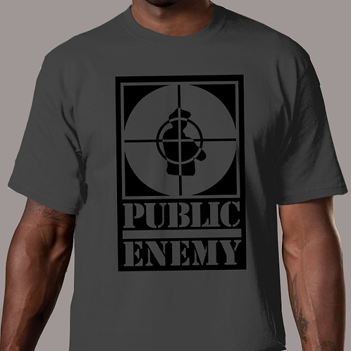 Public Enemy - Rebirth of a Nation Charcoal T-Shirt