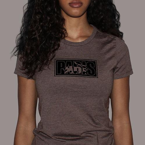 Paris Logo - Heather Brown T-Shirt