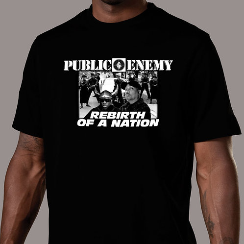 Public Enemy - Rebirth of a Nation (With S1Ws) Black T-Shirt