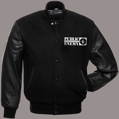 Public Enemy - Logo Varsity Jacket