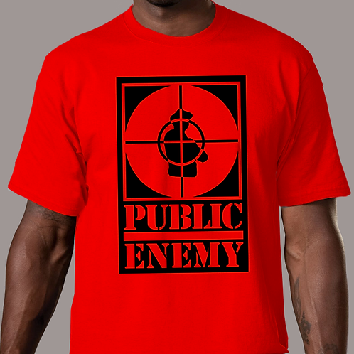Public Enemy - Rebirth of a Nation Big Logo Red T-Shirt
