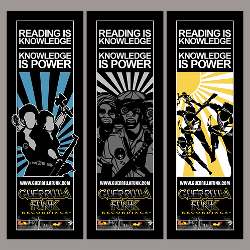 "Guerrilla Funk ""Knowledge is Power""  Bookmarks"