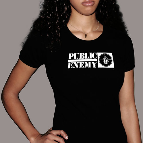 Public Enemy - Rebirth of a Nation Black Babydoll T-Shirt
