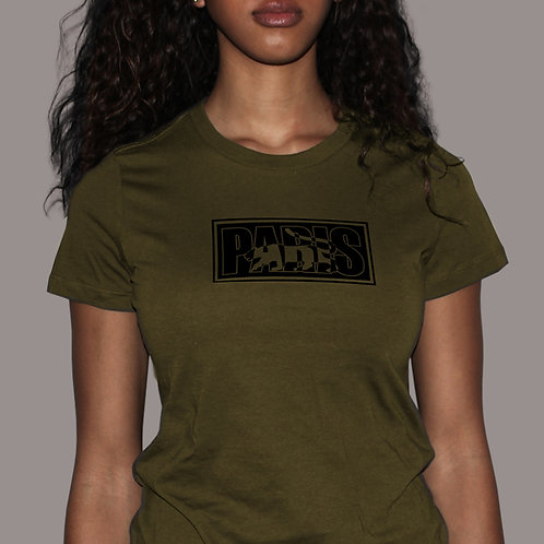 Paris Logo - Army Green T-Shirt