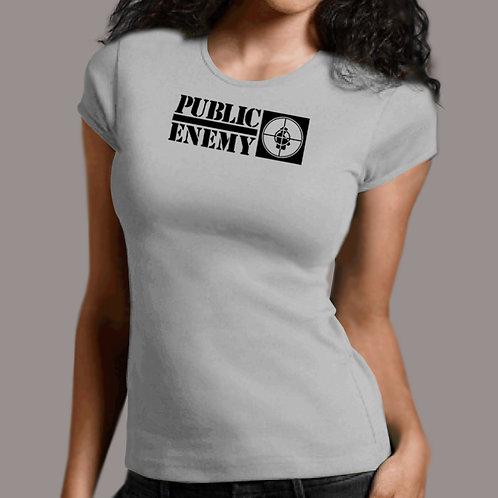 Public Enemy - Rebirth of a Nation Heather Babydoll T-Shirt