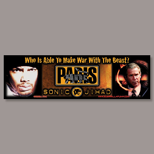 Paris - Sonic Jihad Vinyl Sticker