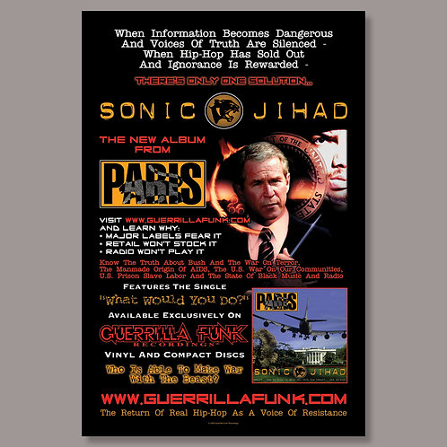 Limited Edition Paris - Sonic Jihad Poster #2