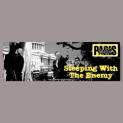 Paris - Sleeping with the Enemy - Vinyl Sticker
