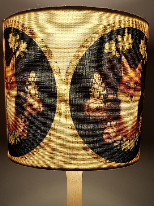 Fig 2. The Fox Linen lampshade on Ash base