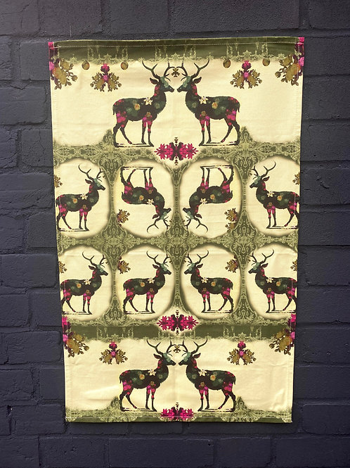 Floral Stag T-Towel