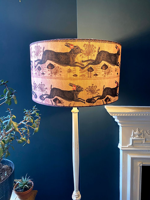 Pink Hare linen Lampshade