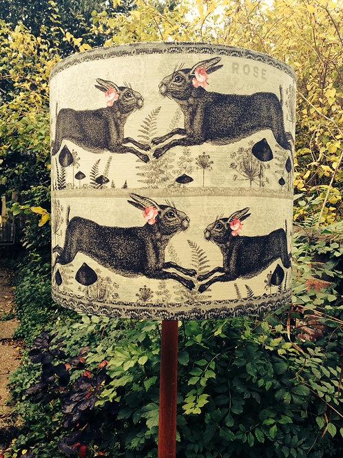Pistachio Hare linen Lampshade