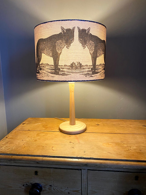 Lilac Wolf Lampshade