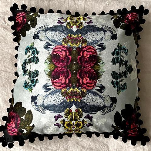 Cockatoo  faux velvet Cushion