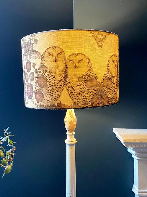 Owl linen lampshade