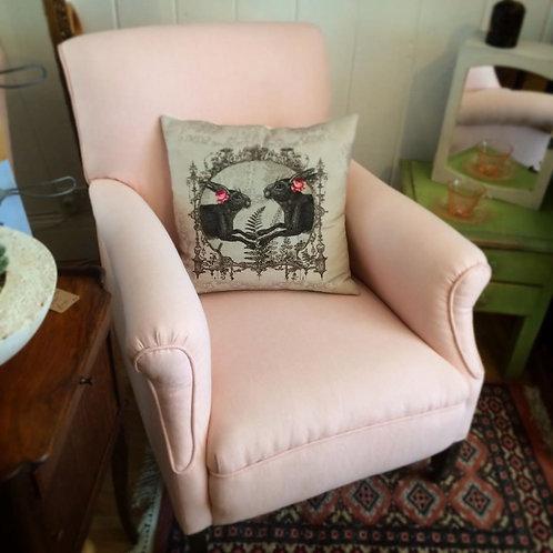 Grey Hare Cushion