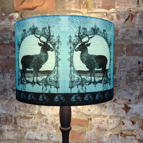 Turquoise Stag Lampshade
