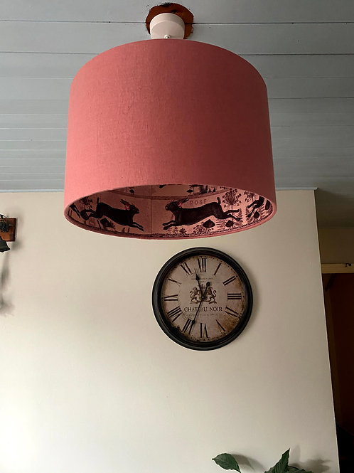 Pink inside out Hare Lampshade