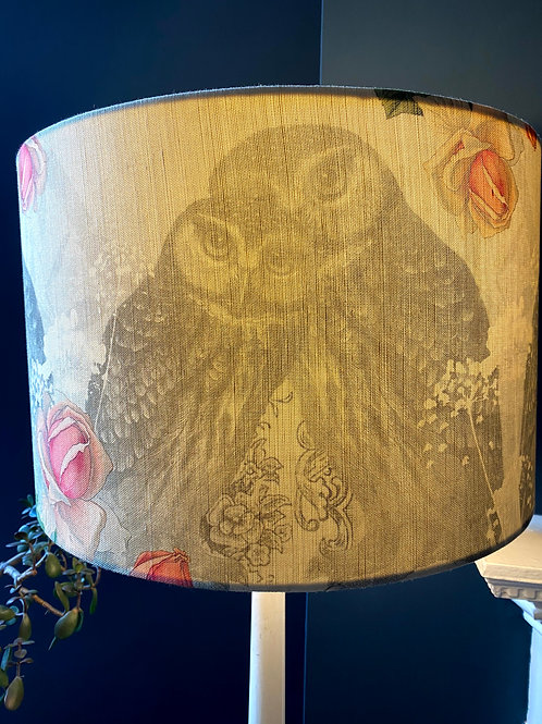 Owl Linen Lampshade