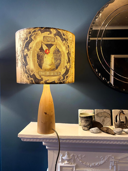 Fig 1. The Hare linen lampshade