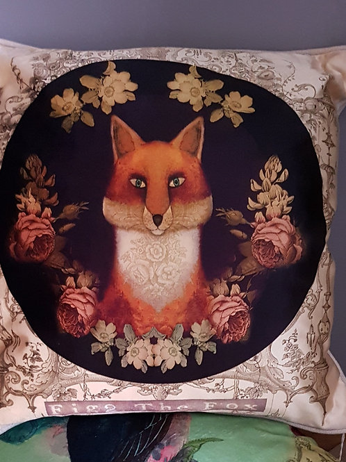 Fox Velvet Cushion